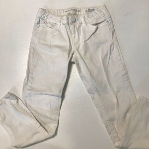 Girls white jeans-ADJUSTABLE WAIST